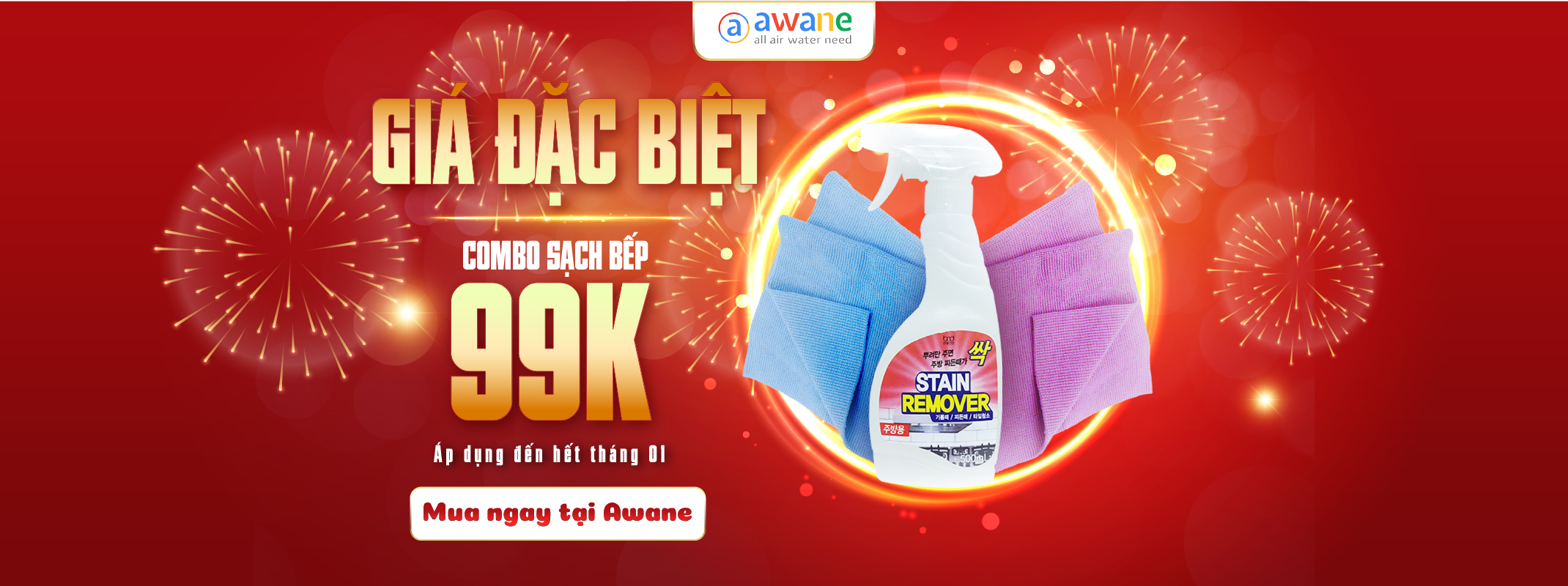 Xịt Lau Bếp Stain Removerbếp giá 99k