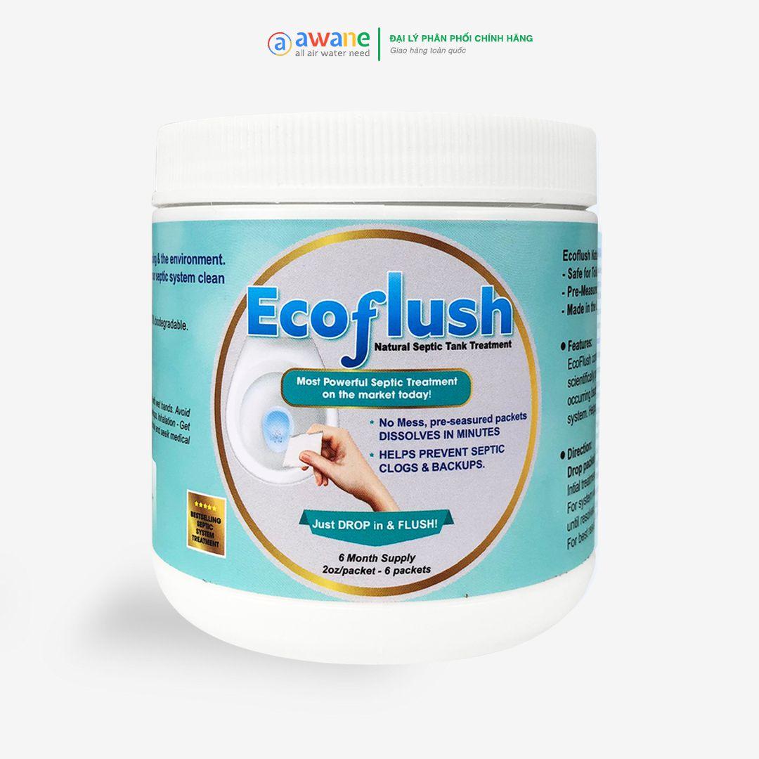 Bột thông tắc bể phốt sinh học EcoFlush - Hộp 6 gói