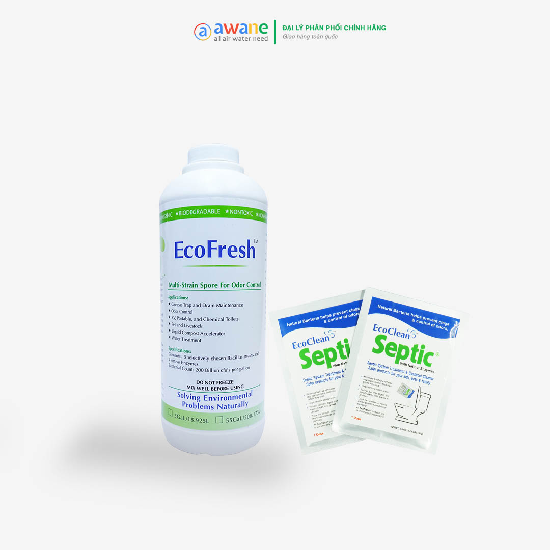 Combo Khử Mùi WC - EcoFresh, Septic